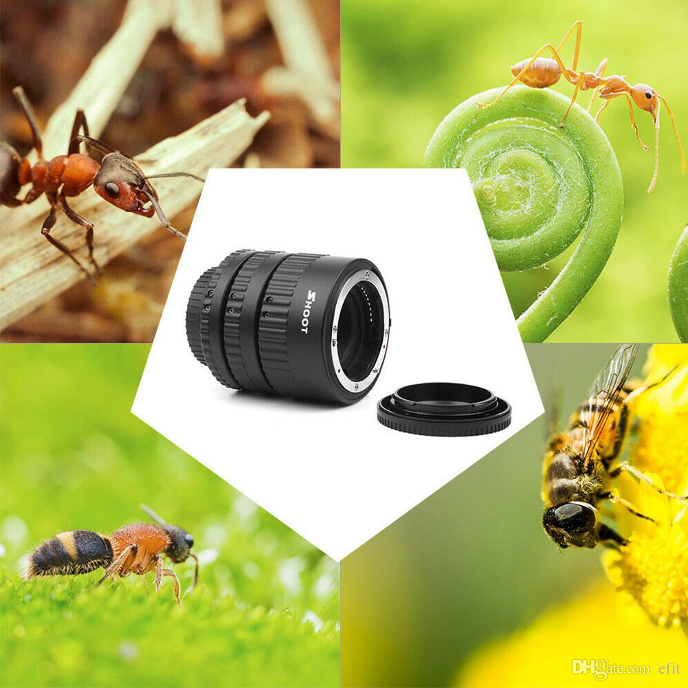 Close-up Auto Focusing Ring Adjustable Aperture Extension Tube Set Plastic Lens Adapter Portable AF Macro Accessories For Nikon