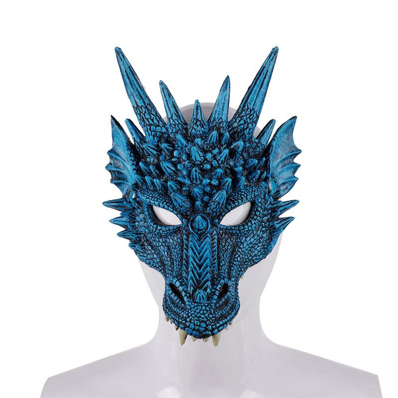 Mardi Gras PU Foamed 3D Loong animal Dragão chinês Máscara Cosplay partido do carnaval Halloween Natal traje para as Mulheres Homens
