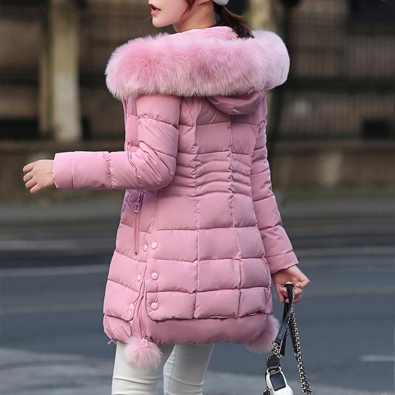 Jacket Faux Fur Parkas Mulheres Down Jacket New Inverno Mulheres Grosso Neve usar casaco senhora Vestuário feminino Casacos Parkas Inverno