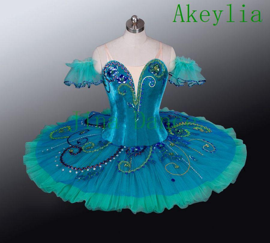 Erwachsene Grüne Bühne Ballett Kostüm Frauen Esmeralda Professionelle Bühne Ballett Dancewear Kostüm Nutracker Tutu Handgemachte für Mädchen