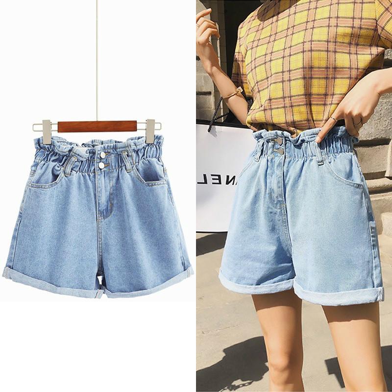 AprilGrass Marken-Kurzschluss-Jeans Frauen-weiße elastische hohe Taille Denim Shorts Jeans Feminino Sommer-Schwarz-Damen Denim Shorts für Frauen