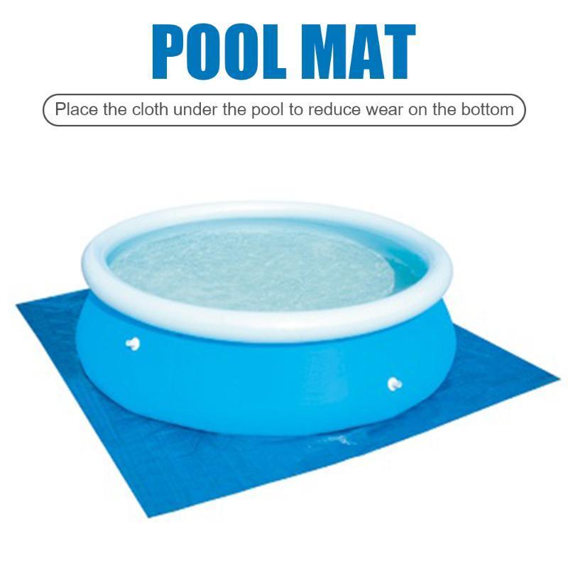가족 야외 수영장 액세서리 야외 수영장 패드 방수 접이식 PE 층 정원 뒤뜰 천
