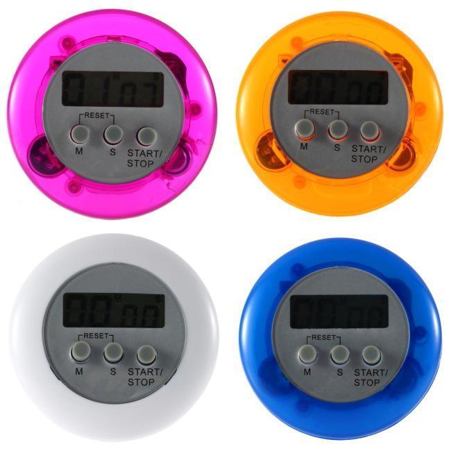 Kochen Timer Digital-Alarm Küche Timer Gadgets Mini nett Runde LCD Display Count Down Werkzeug Akku mit Klipp installiert