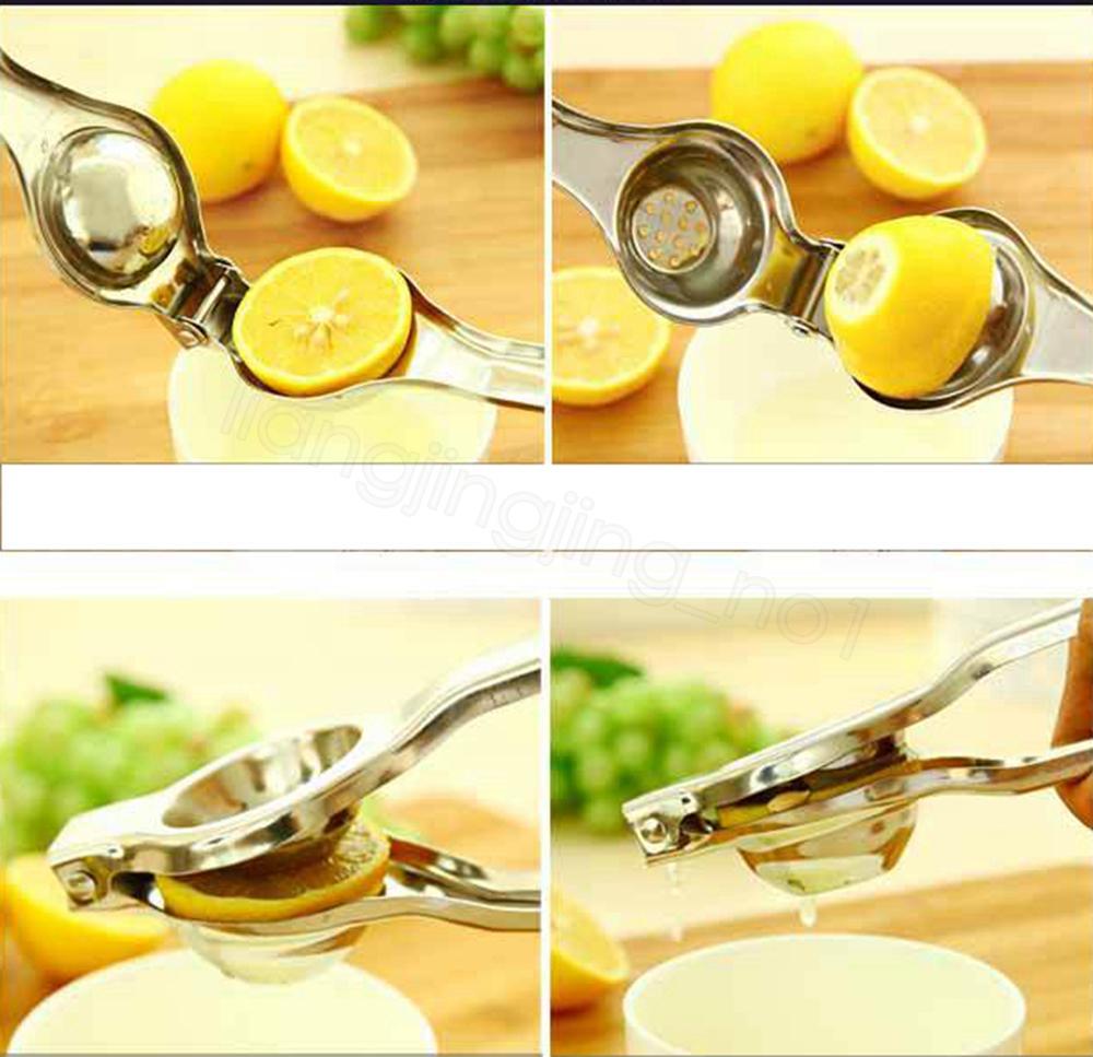 Нержавеющая сталь Лайм соковыжималка пресс лимон апельсин соковыжималка цитрусовые фрукты соковыжималка кухня бар еда овощной гаджет кухня инструменты FFA4189-4