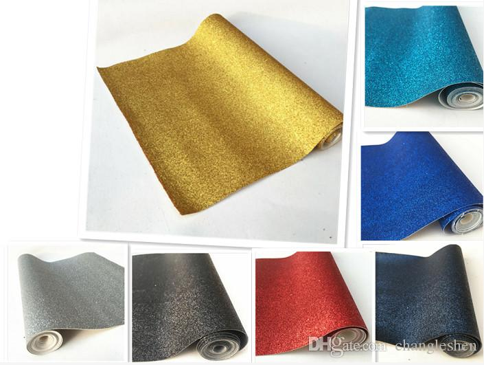 21x135cm Roll Pastel Fine Glitter Vinyl Fabric Sparkle Leather Material Crafts Bow Decor Plain 7 Colors Available