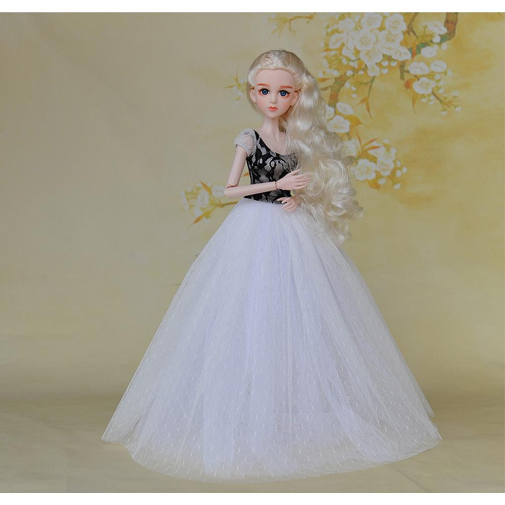 1/4 Escala menina Bonecas Roupas, vestido de casamento Guazy saia para 45CM junta articulada da boneca, para LUTS SD Casual Wear