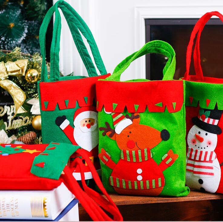 Sacchetti regalo il giorno di Natale Atmosfera DecorationTree Candy Bag Decorazioni di bambini di Natale del regalo portatile Bag43x26x21