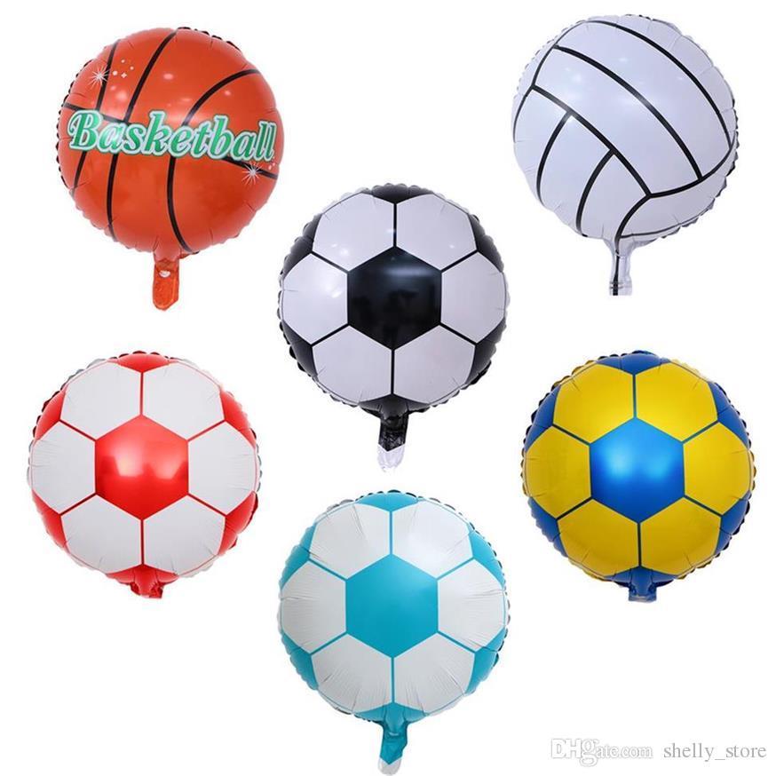 18 дюймов Футбол Алюминиевая фольга воздушный шар Футбол Баскетбол гелием воздушные шары украшения для дня рождения партии сувениры Детские игрушки