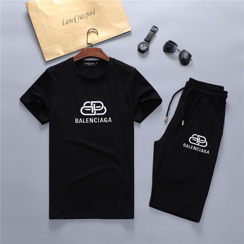 Trajes de diseñador del verano del Mens ee Playa Mar Alquiler de Camisas Pantalones cortos Ropa fija 2pcs