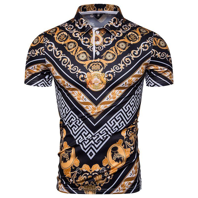 2020 das mulheres dos homens Polo camiseta Moda Men Polos Casual Mens Polo Casual impressão de alta qualidade Verão manga curta palácio do vento Totem Polpa