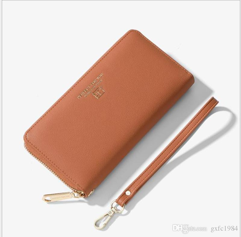 Cartera de mujer de moda coreana de gran capacidad bolsa de embrague larga cartera de mujer cartera de bolsillo para tarjeta de bolsillo