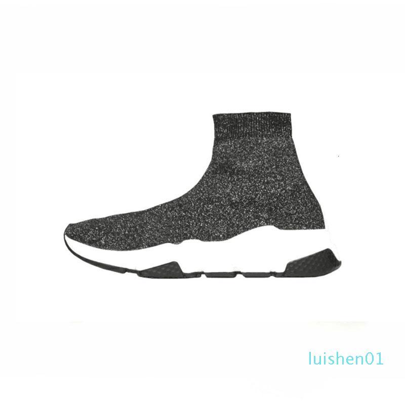 Новый Тройной белый кроссовки для мужчин женщин Speed Triple Черный Красный Серый Синий Мода Flat Носок Повседневная обувь Speed Trainer тенниса Обувь 01L