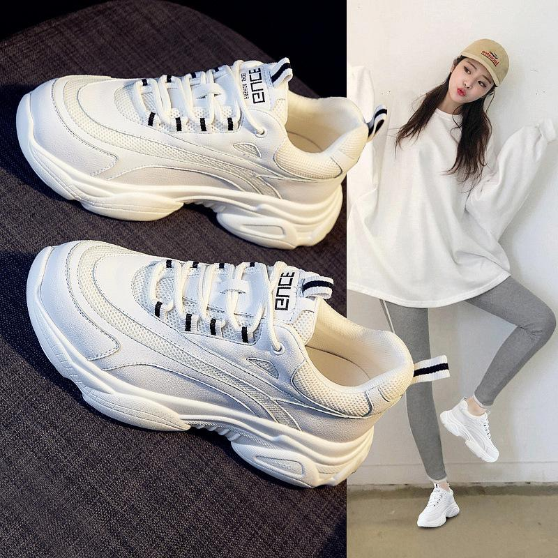 Hot2019 Shoe Dad Season Woman A Summer Small White Women's All-match Paragraph Leisure Time Sneakers Skateboard Shoes