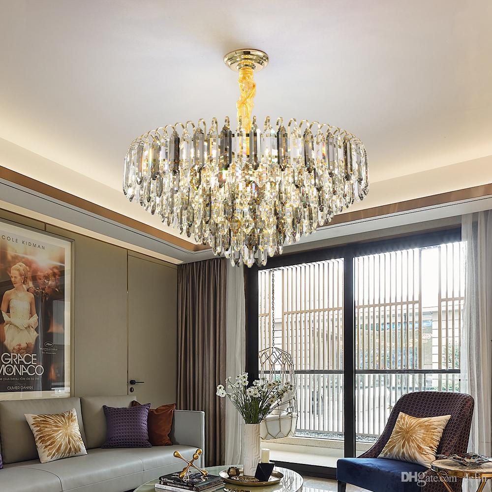 Grandeur Крите Роскошные Круглые светильники Блестящие водить Висячий Крытые лампы для столовой гостиной современного номера