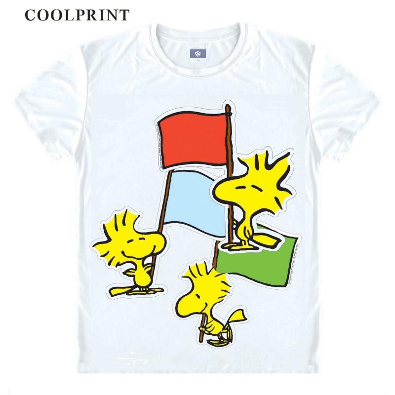 PEANUTS Woodstock Yellow Birds Casual Graphic Fun Basic Anime Cosplay Custom Shirt Tank Top Vintage Printed Tee-Style563-NO02