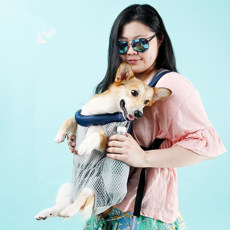 Perro mascota de transporte para hombro del recorrido del morral grandes bolsas de pecho delantero titular para Puppy Chihuahua mascota Perros Accesorios del gato