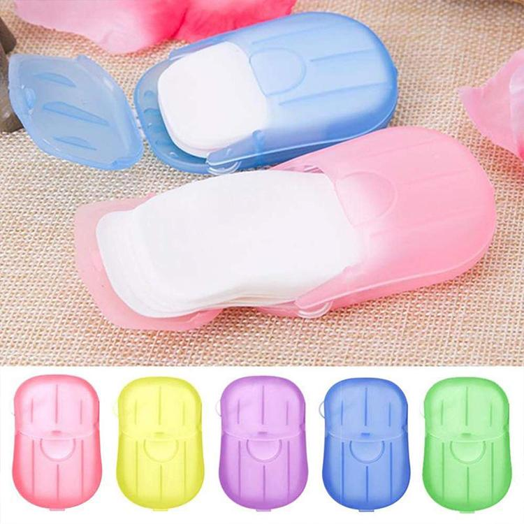 Eco Friendly Travel Supplies Portable Pocket Soap Paper Mini Washing Paper Soap of Disposable