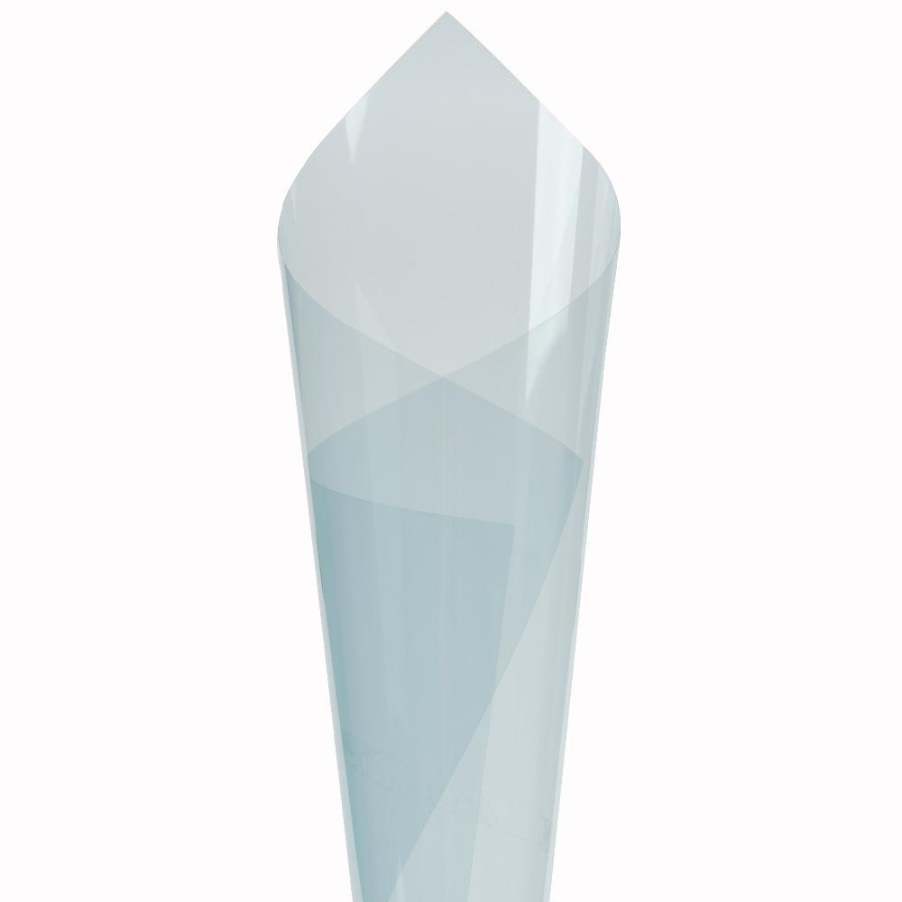 Оконная пленка 80% VLT светло-голубой солнечный оттенок 0.3*1.52 м керамическая синяя цветная пленка