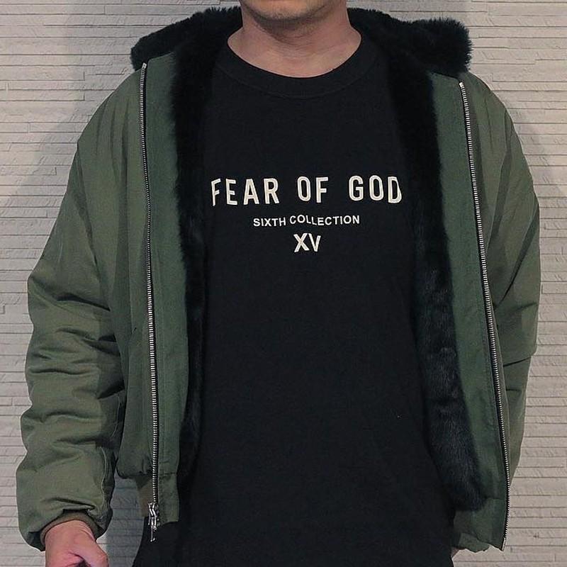 19ss timore di Dio NEBBIA SESTO collezione di t-shirt di modo delle donne di T degli uomini Semplice Via Skateboard traspirante manica corta Casual Tee HFYMTX515