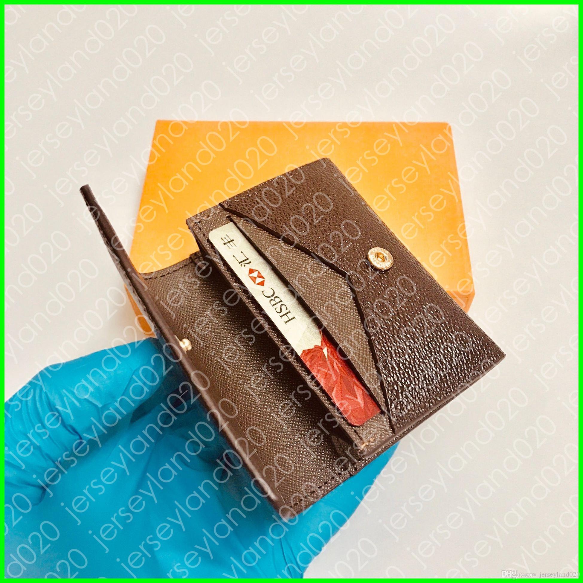 ENVELOPPE CARTE DE VISITE N63338 Designer de Moda Homens Coin Cartão De Crédito De Negócios Titular do Bilhete Chave Caso de Luxo Organizador De Bolso Carteira M63801