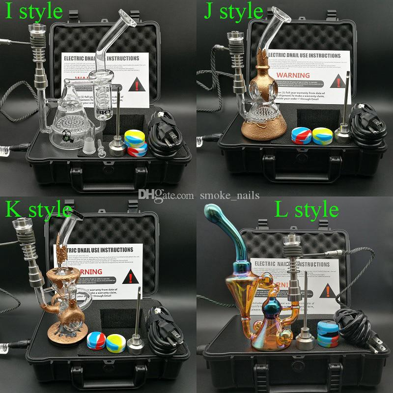100% Top quality Enail D nail Dnail kit electronic temperature controller box Smoker E Nail heater Coil with Ti Nail for glass bong