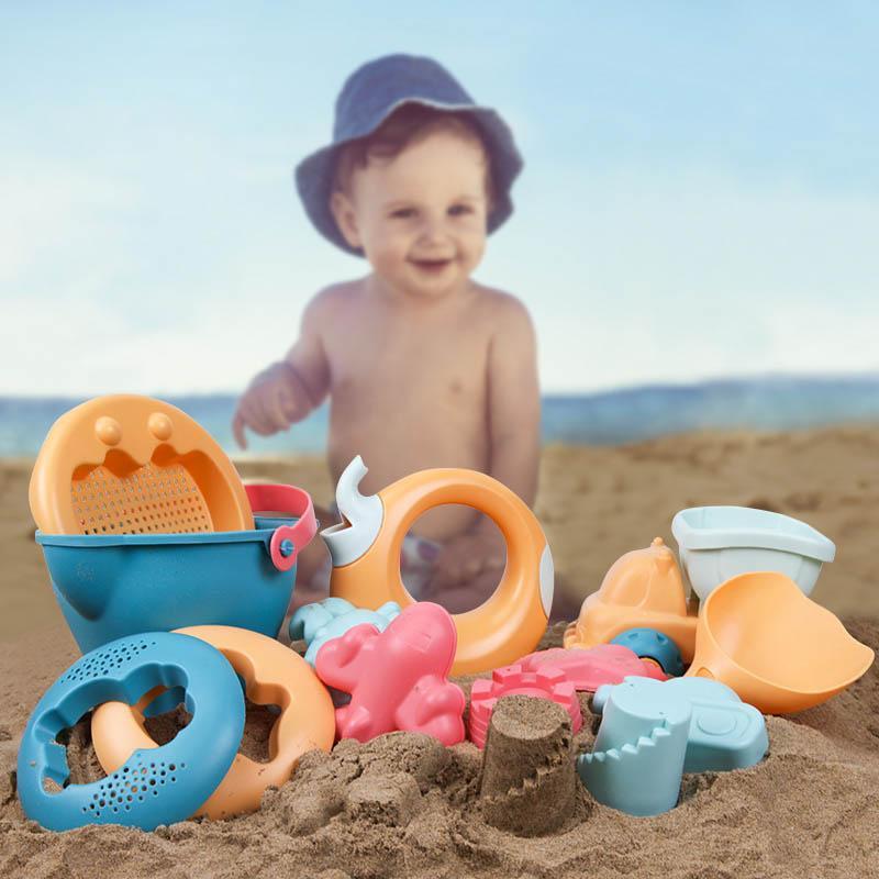Los juguetes de playa para la playa de bebé de juguete Juego de Niños recinto de seguridad del kit del sistema de los niños 14pcs verano juguetes para la playa de arena para jugar Juego de Agua de la compra