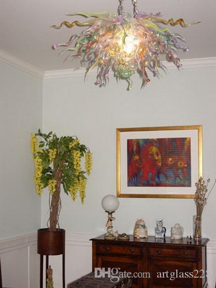 Villa Art Chihuly Art-handgemachtes durchgebranntes Glas-Kronleuchter Moderne Kunst Murano Glas-LED Quelle AC 110V-220V