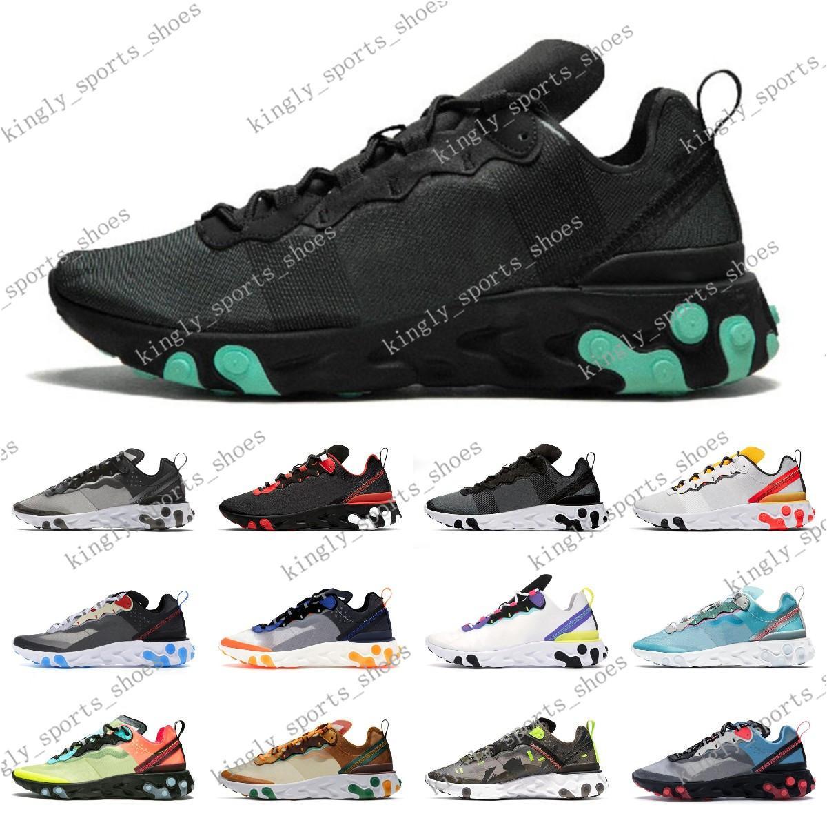 2020 erkekler kadınlar Işık Kemik üçlü siyah için 87 55 koşu ayakkabıları Hiper Pink yetiştirilen eleman eğitmenler spor ayakkabı 200623C001-11 runner mens