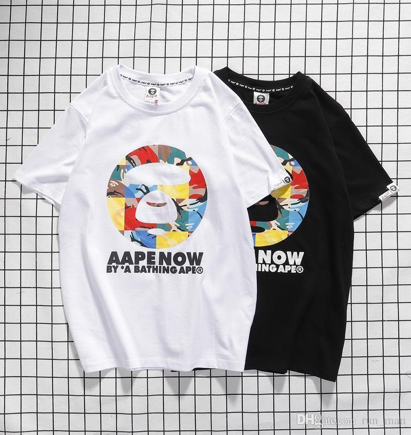 Mens designer luxury t shirts street tide brand ins personality clown print couple fashion summer short sleeve C6052
