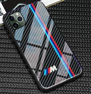 Envio TPU livre + vidro temperado Phone Case VW Golf BMW para iphone 11 pro X XS Mas 6 6s 7 8 mais casos de audi SLINE RS Ford Mustang AMG
