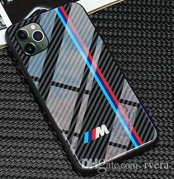 Envío libre TPU + vidrio templado RS Campo de la caja del teléfono para el iPhone 11 Pro X XS Mas 6 7 8 6s más casos para sline Mustang Samsung S8 S9 S10 plus