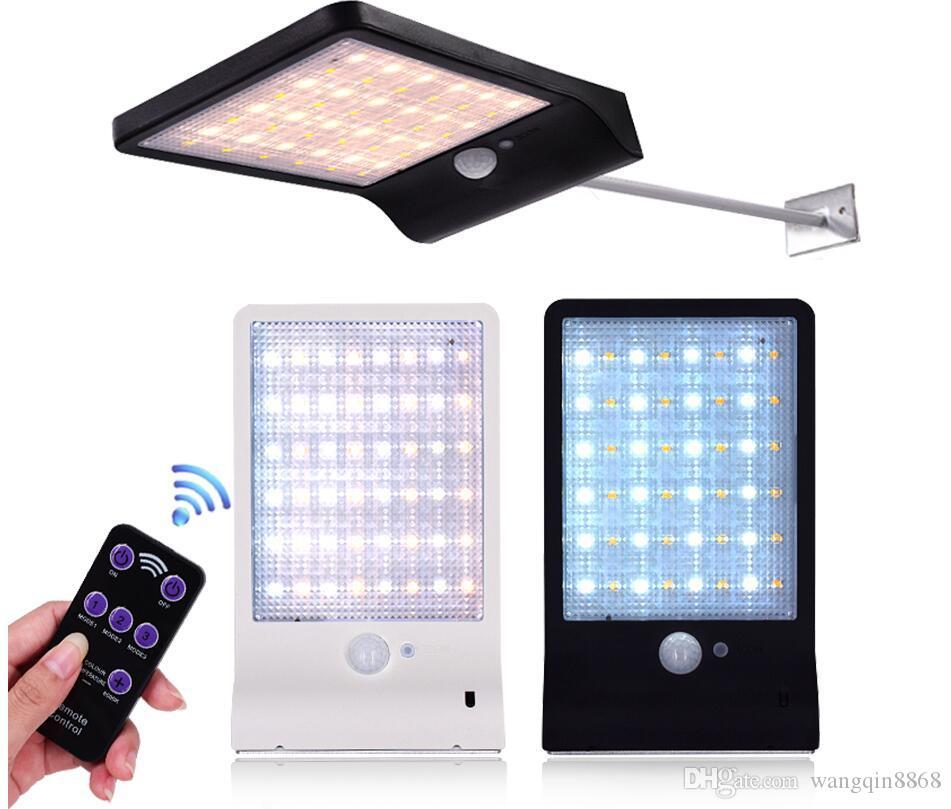 Atualizados 48 leds luz solar cor ajustável com o controlador três modos impermeáveis luzes lâmpada para jardim ao ar livre Wall Street