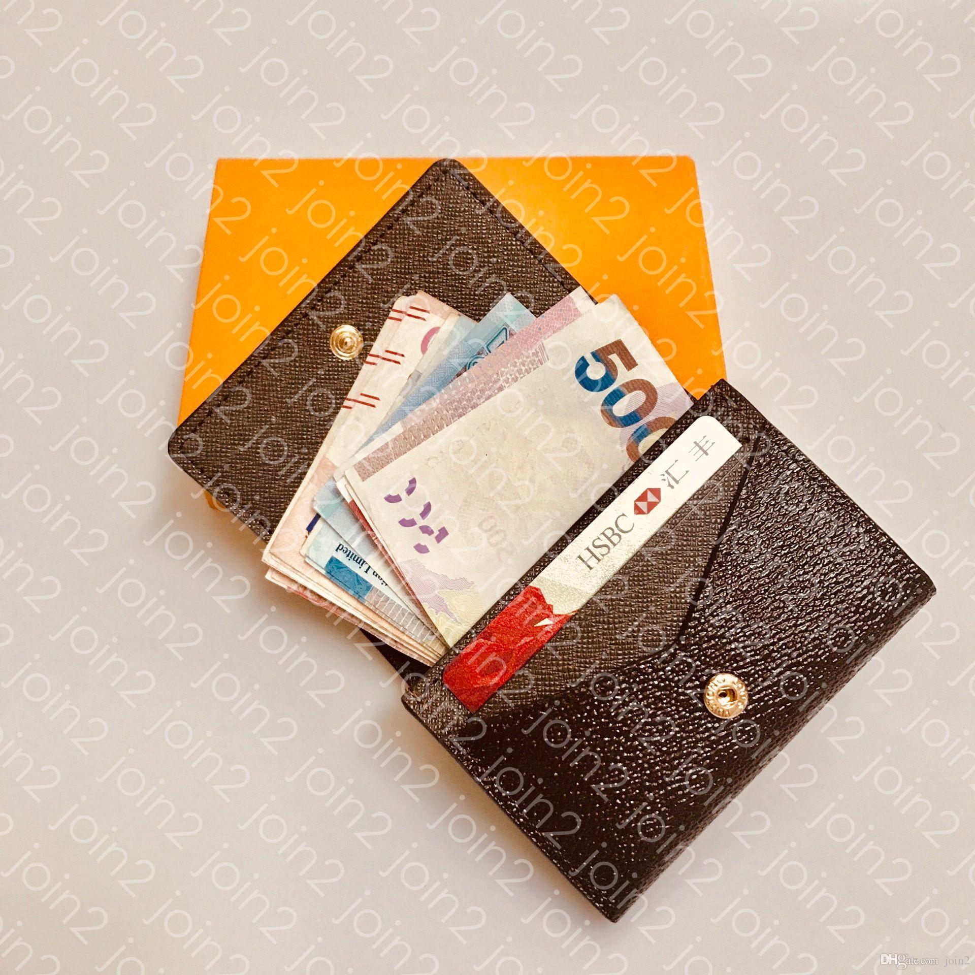 ENVELOPPE carte de visite M63801 diseñador de moda de los hombres de negocios de la moneda tarjeta de crédito de entradas clave de caso Holder lujo Organizador de bolsillo N63338 Monedero