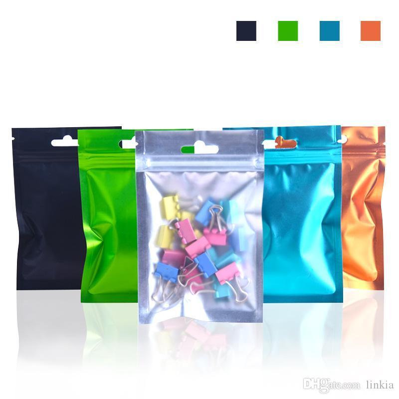 Алюминиевый полупрозрачный цвет вытягивающая сумка герметичное отверстие матовое висит упаковочная сумка боббб