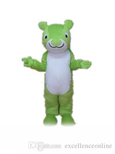 usine à chaud d'un costume de mascotte écureuil vert pour adulte à porter