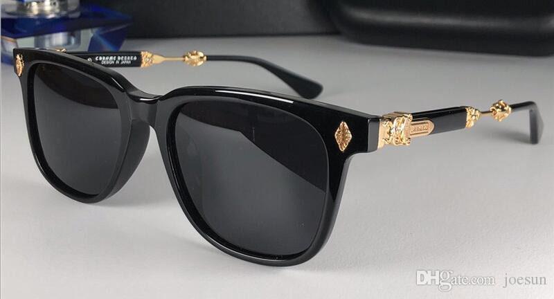 Novos Populares Retro Homens Sunglasses Melice Punk Estilo Designer Retro Quadrado Quadro Com Caixa De Couro Revestimento Reflexivo Anti-UV Lente Top Qualidade