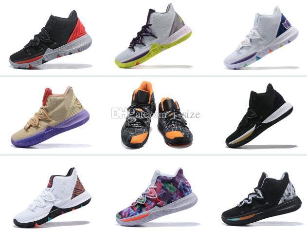 Hot Boys Kids Kyrie V 5 All-Star Black Gold Oreo Basketball Shoes Irving 5S Men Youth Girls Women Zoom Sport training Sneakers