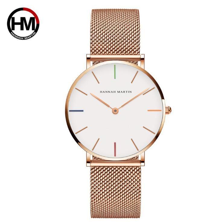 2020 Новое платье женщин часы 36мм Женские часы наручные часы из нержавеющей стали золотые часы Женские часы высокого качества леди Кварцевые Наручные часы