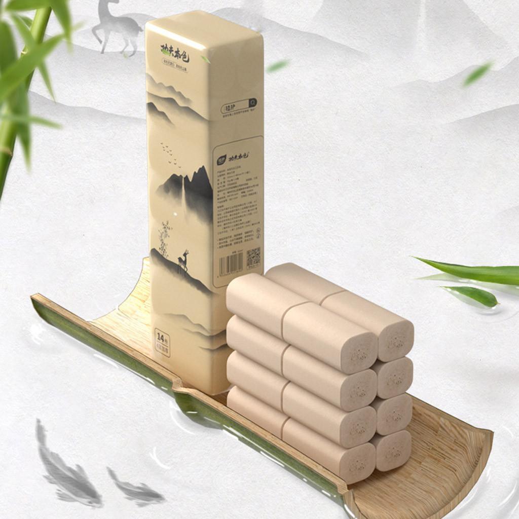 Бумажные полотенца экологически чистая и прочная туалетная бумага Alarge Pack с 14шт настольной кухонной бумагой многоразовая салфетка