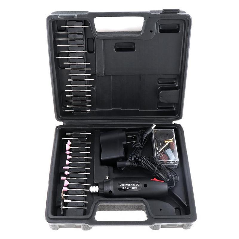 60pcs / Set 110 / 220V Mini recarregável moedor elétrico com vários Wheelhead E Steel Wire escova para polir plug EUA