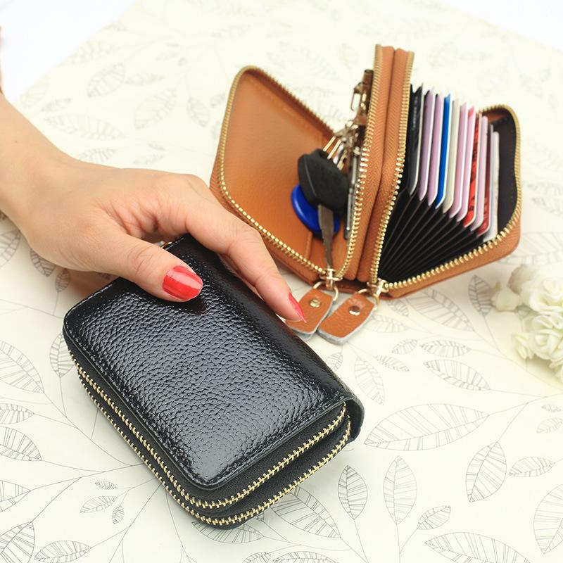 Wild2019 Clip Organ Cowhide Set Zipper Doka Position Guard Against Theft Pay By Card Piece Package Wallet Both Pull