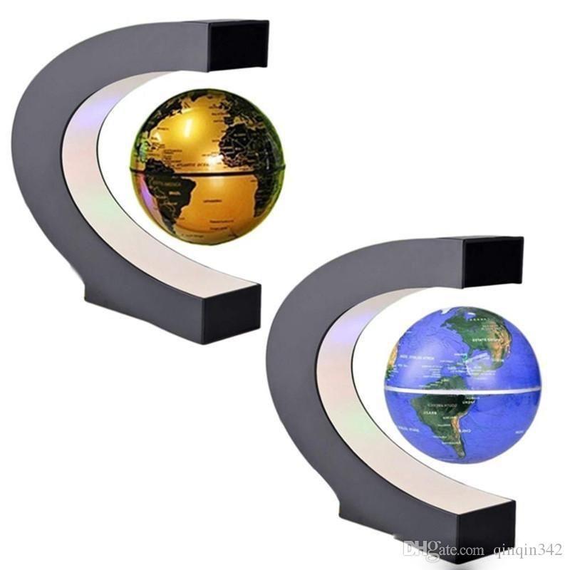 Lampada DHL della novità C di figura LED che fa galleggiare globo di levitazione magnetica Luce Antigravità magica / romanzo della lampada di compleanno a casa dic Notte
