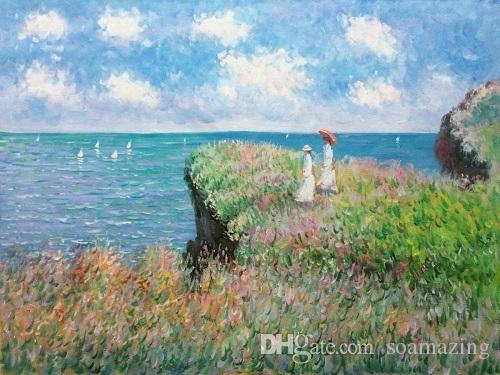 Claude Monet Clifftop Walk At Pourville Tote Shopping Bag For Life