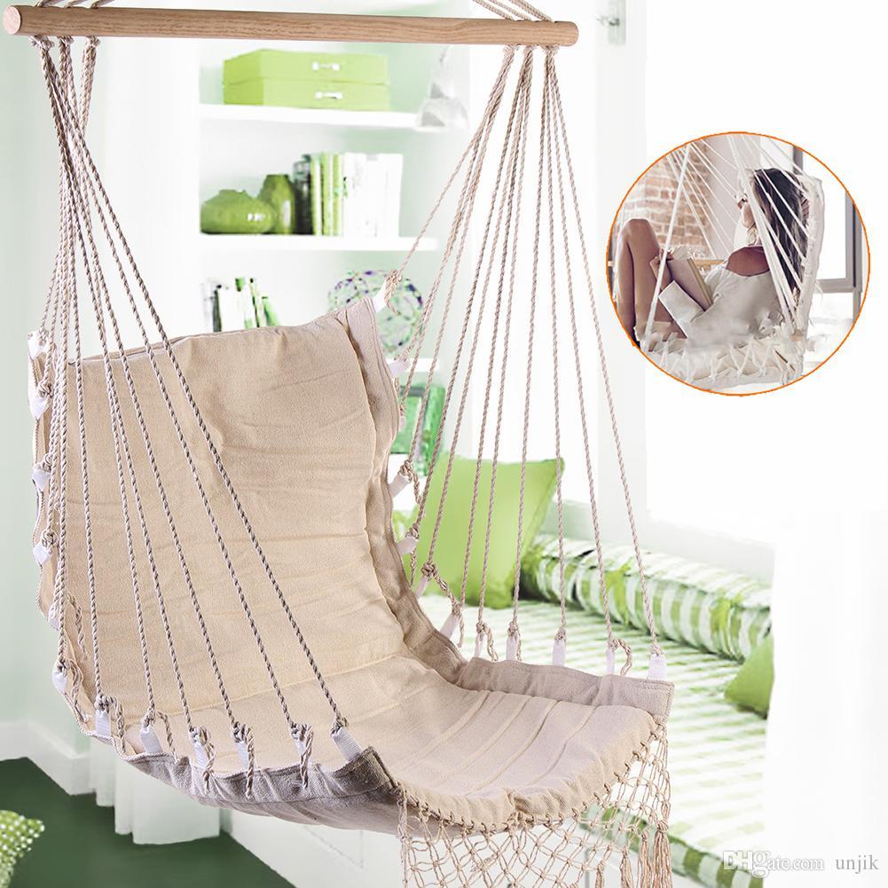 Nordic Style Deluxe Hängematte Outdoor Indoor Garten Schlafsaal Schlafzimmer Hängesessel Für Kind Erwachsene Swinging Single Sicherheit Schaukel Hängematte