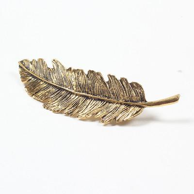 Leaf Feather Hair Clips Women Girls Hair Accessories Hairpin Barrette Hair Ornament Party Decoration Wedding Jewelry Gifts