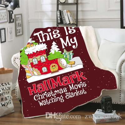 بطانية الصوف الكبار عيد الميلاد لينة سميكة شيربا الصوف البطانيات لينة بطانية أريكة الحارة رمي النوم لحاف بطانية 150 200CM *