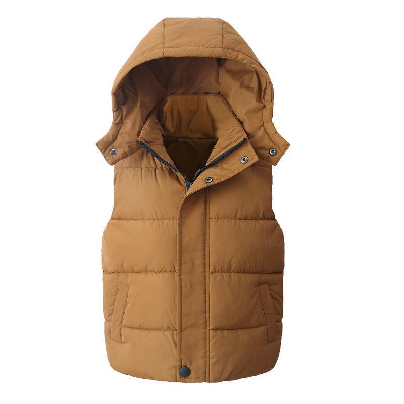 Çocuk Yelek Çocuk Dış Giyim Palto Çocuk Giyim Kapşonlu Pamuk Bebek Erkekler Kızlar Yelek İçin Yaş 5-14 Yaşında LY191225 Isınma