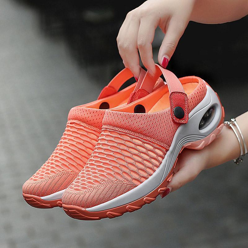 Kadın Sandalet Platformu Elastik Geri Kayış Kadınlar Mesh Kadın Katı Casual Kadın Dilimleri Ayakkabı 2020 Ladied Konfor Ayakkabı