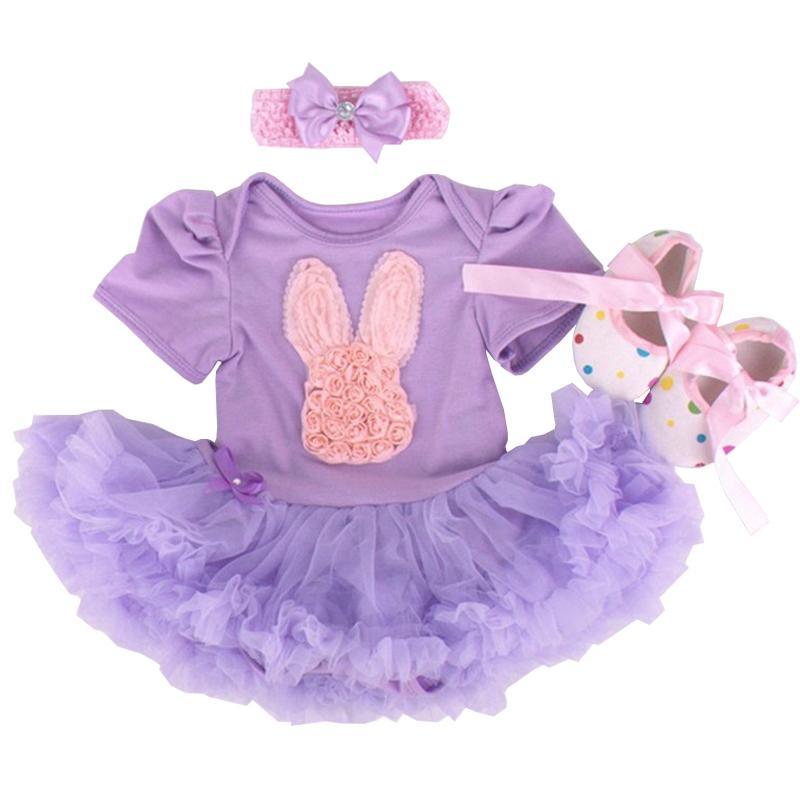 Newborn Baby Girl Dresses Easter Day Rabbit Infantil Children's Clothing Sets Girls Tutu Kids Wear Bebe 1st Easter Party Vestido Y19050602