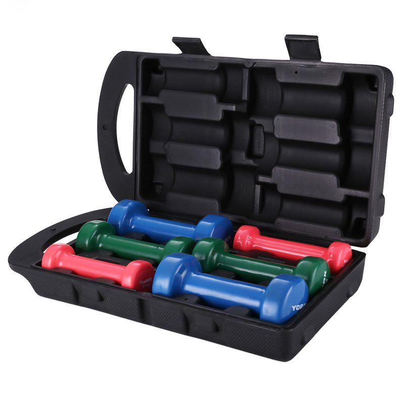 الدمبل أصيلة البلاستيك انخفض متعددة الألوان هدية علبة تحتوي على الدمبل تأهيل ممارسة المعدات للرجال والنساء